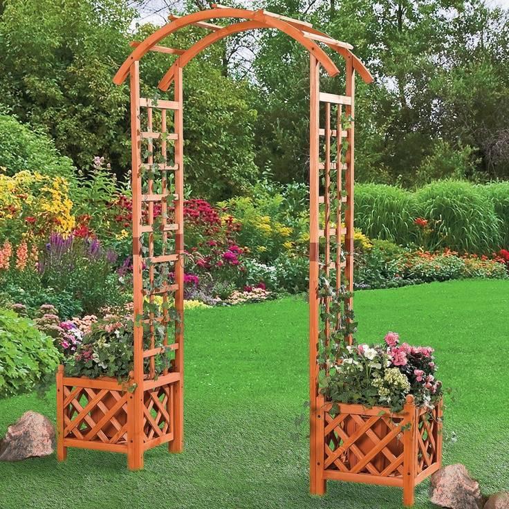 Идеи, как сделать садовую арку — классификация, виды, особенности размещения и 110 фото лучших вариантов арок