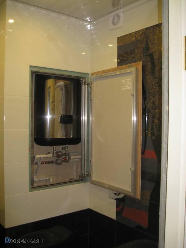 Смотровой люк в ванной под плитку - виды и выбор лючка