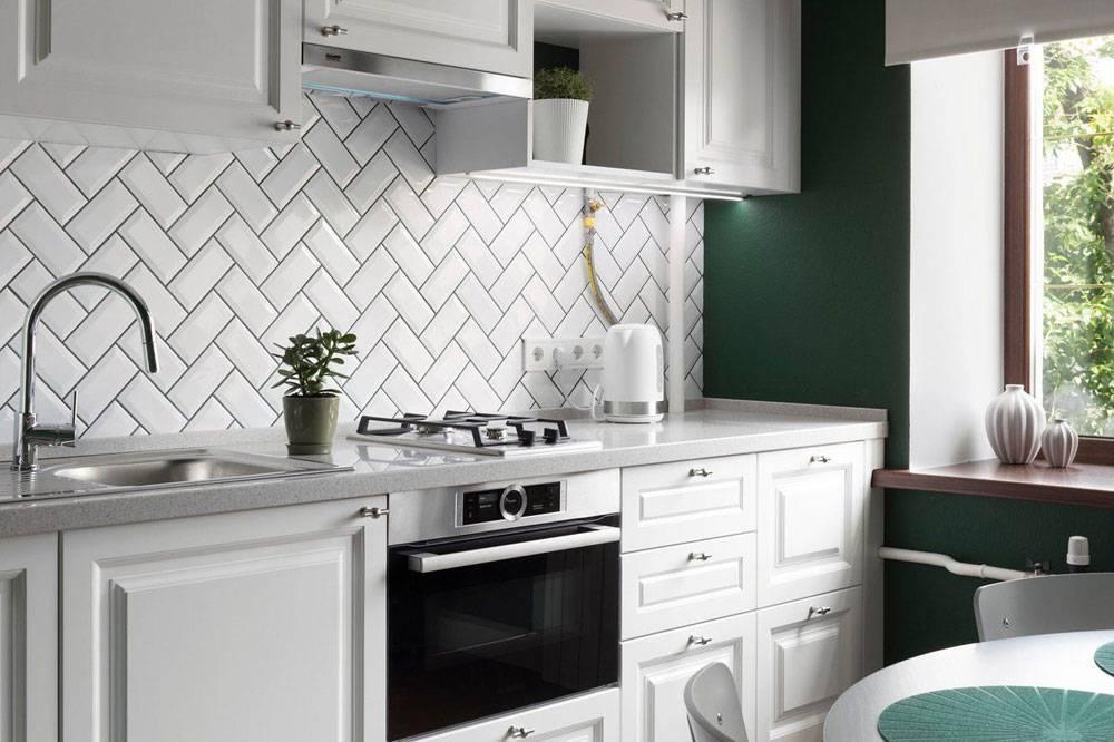 Сделали фартук из плитки кабанчик на кухне: примеры раскладки (50+ фото идей)