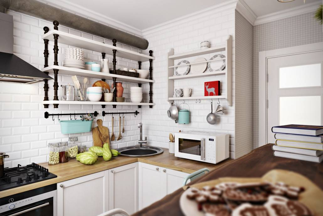 Особенности и варианты дизайна кухни площадью 4 кв. м