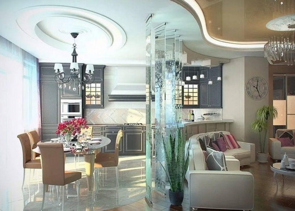 Идеи зонирования гостиной: 105 фото практичного оформления интерьера
