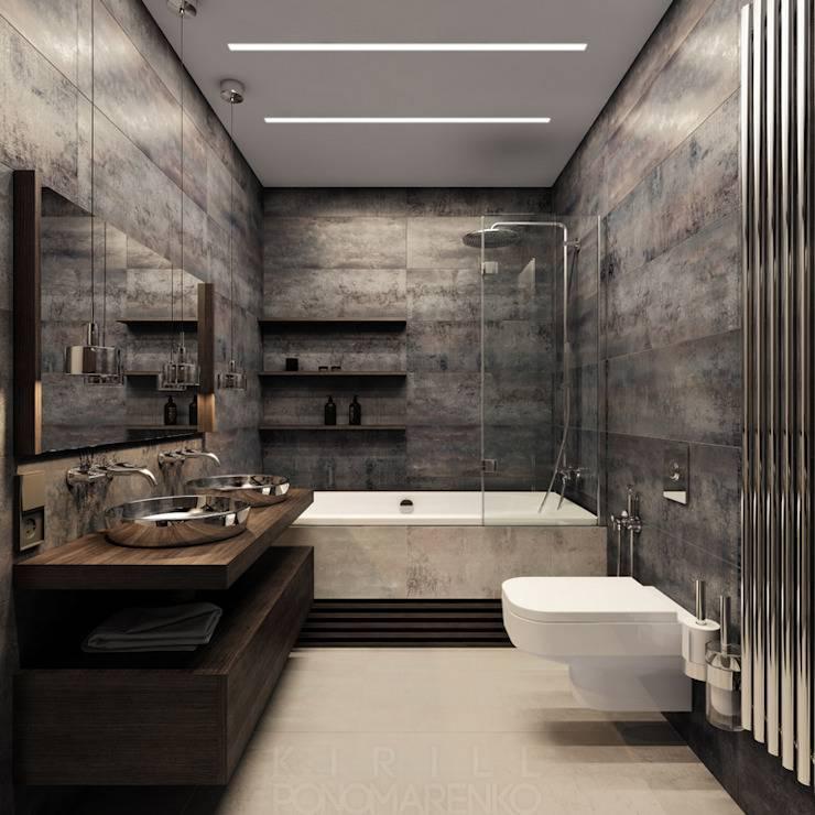 Ванная комната в стиле хай-тек: фото интерьера, плитка и мебель