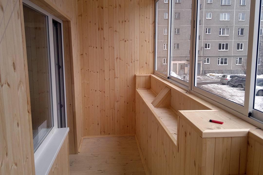 Отделка балкона вагонкой своими рукам: обработка, монтаж + покраска
