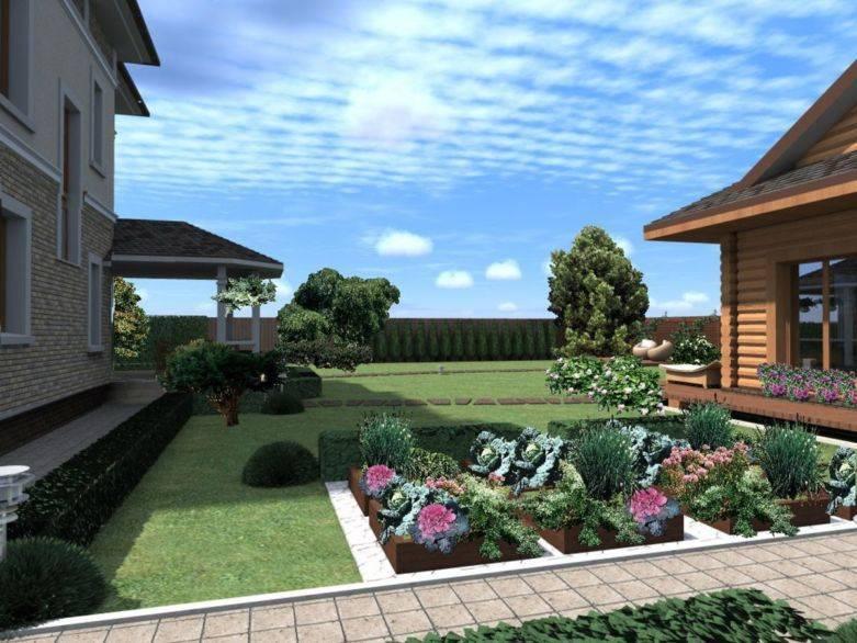 Дизайн участка загородного дома площадью 15 соток