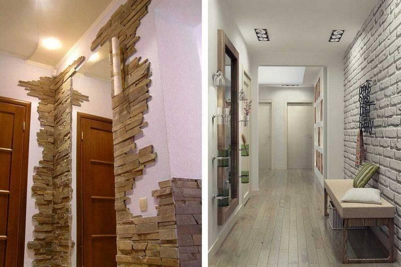 Стены в прихожей: 95 фото отделки стен и креативных украшений