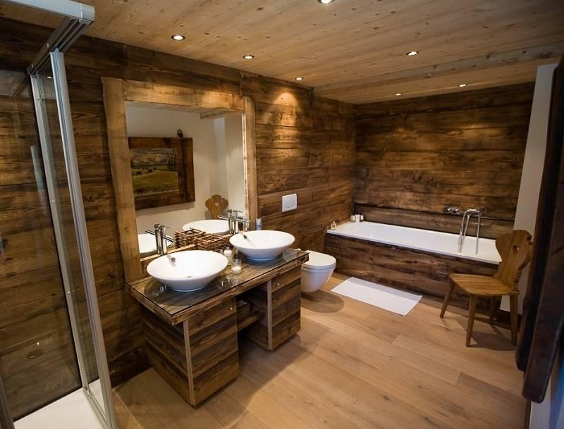 Деревянный пол в ванной (38 фото): как сделать деревянный, виниловый пол в частном доме