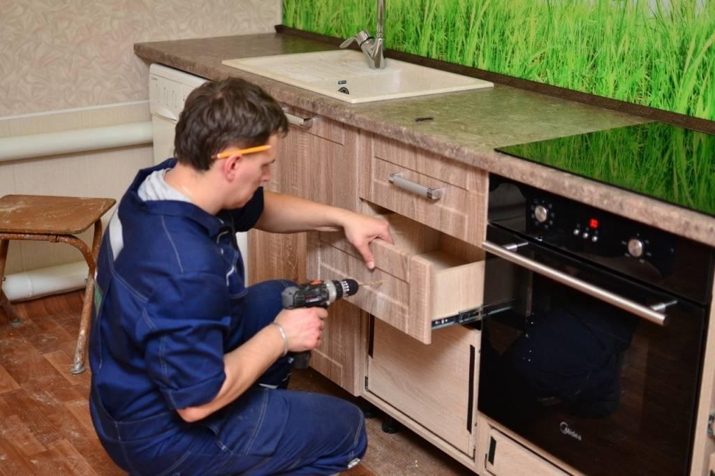 Как собрать кухню своими руками: описание этапов сборки