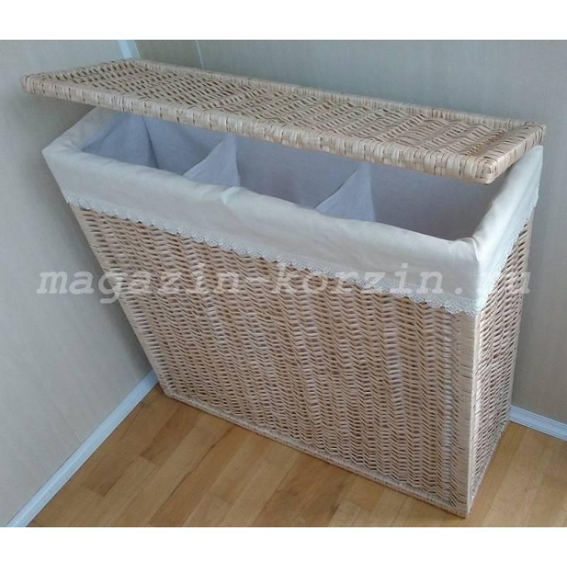 Корзины для белья в ванную комнату - угловые, круглые, прямоугольные, пластиковые, плетеные. какую выбрать?