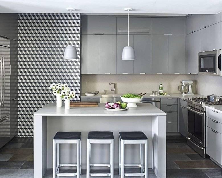 Серая кухня в интерьере: 60 удачных сочетаний цветов
