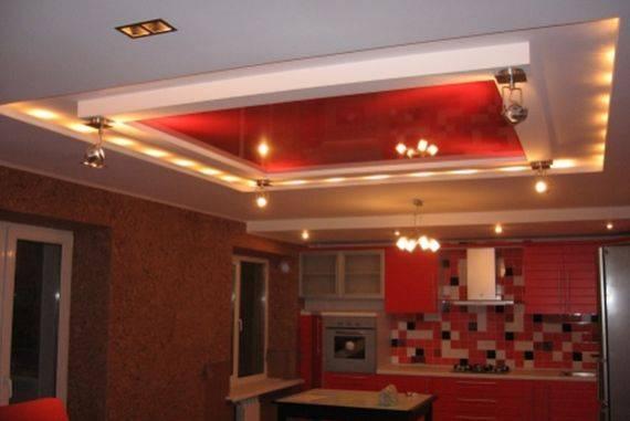 Потолки из гипсокартона на кухне (80 фото) - красивые идеи дизайна потолков