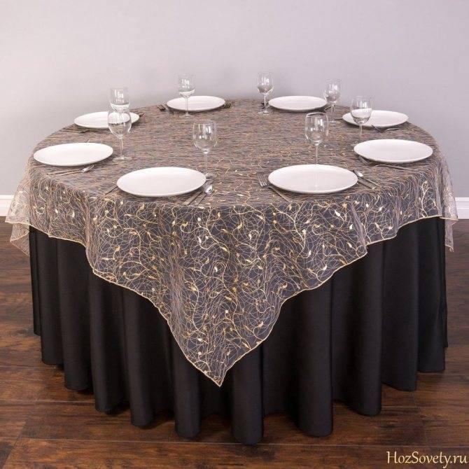 Выбор скатерти на стол под дизайн кухни
