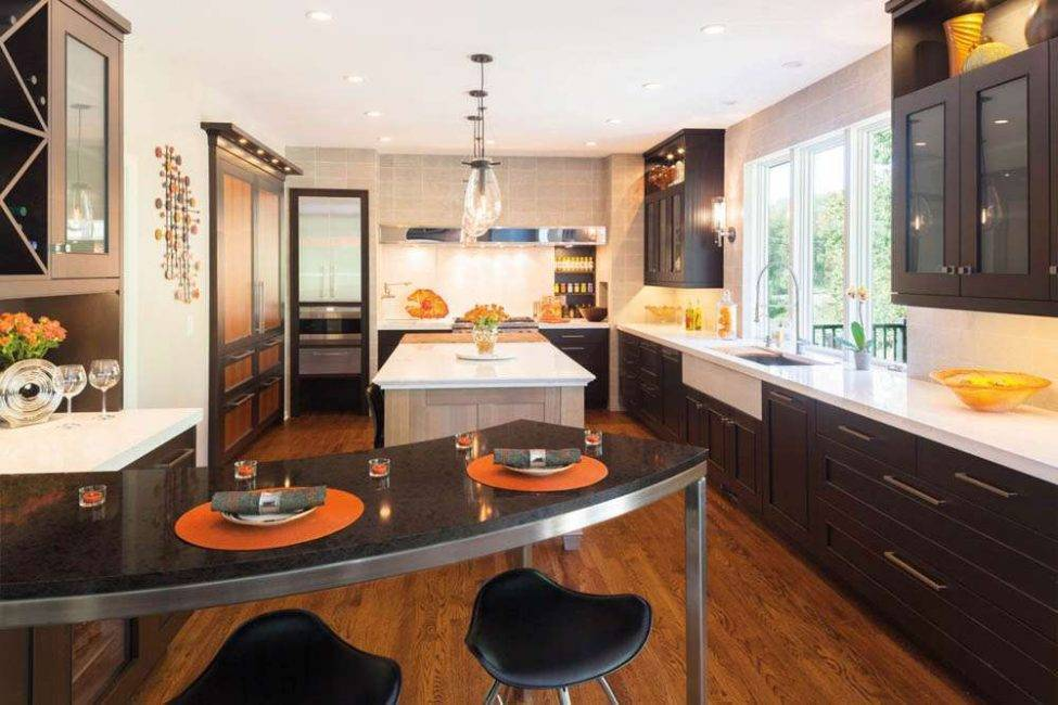П-образная кухня: 6 решений и 126 фото [+ c окном и барной стойкой]