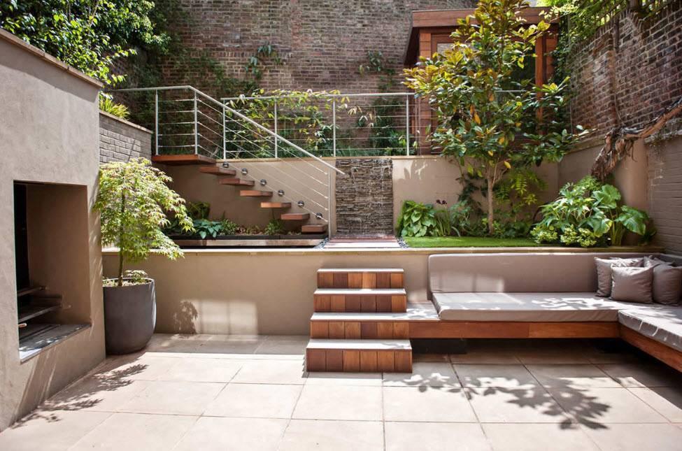 (+90 фото) дизайн двора частного дома 70 фото