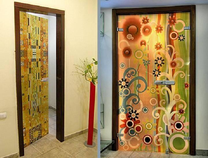 Декор дверей своими руками – мастер-класс и трафареты