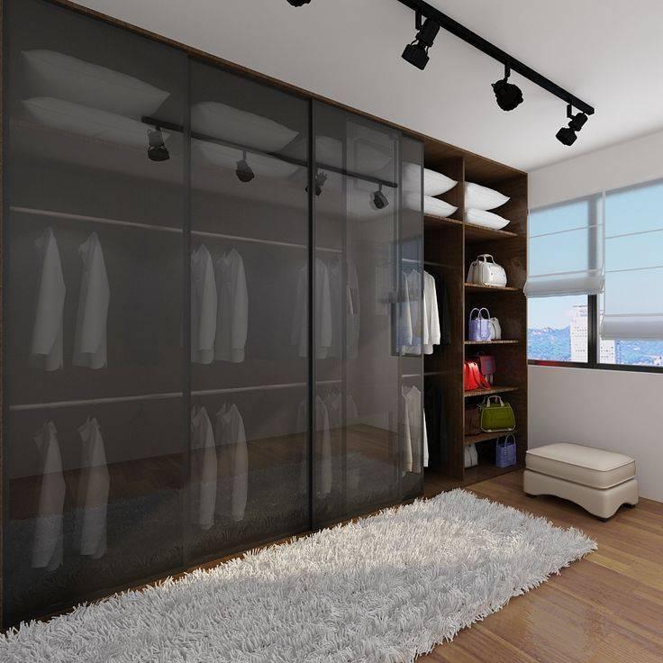 Встроенный шкаф купе в спальню — особенности, устройство и правила выбора