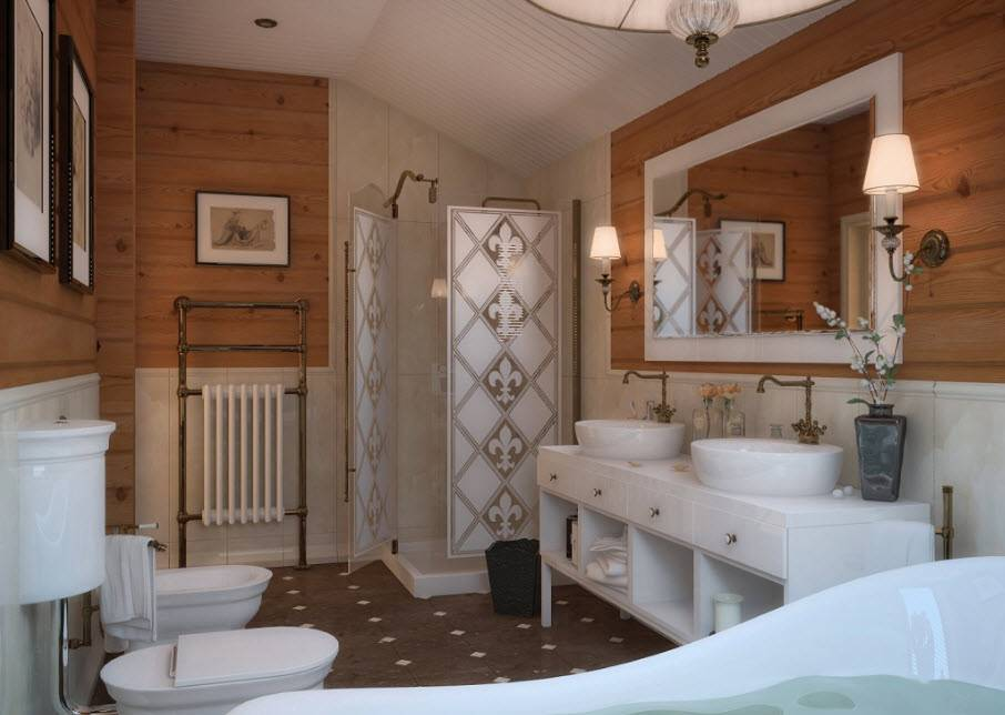 Ванная комната в частном доме – планировка и основные этапы работ. 130 фото особенностей обустройства и прокладки коммуникаций