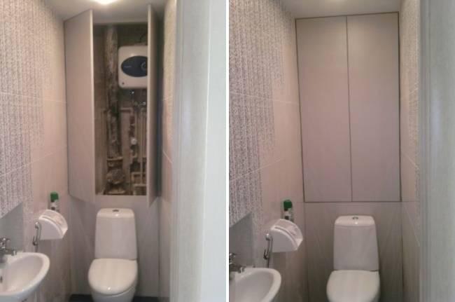 Как закрыть трубы в туалете: варианты и технология
