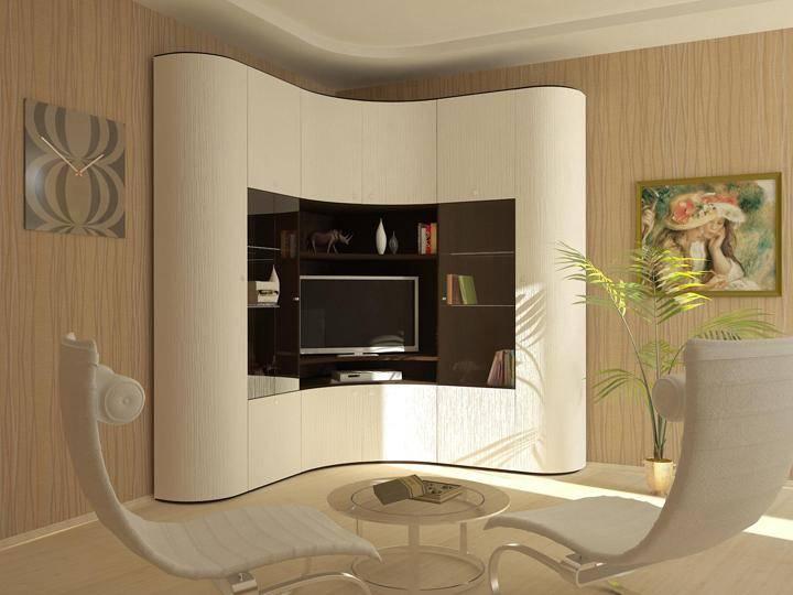 Угловой шкаф купе в гостиную: советы по выбору на 60 фото