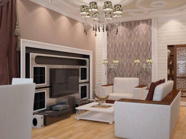 Рабочее место в гостиной в современном стиле: дизайн  - 25 фото