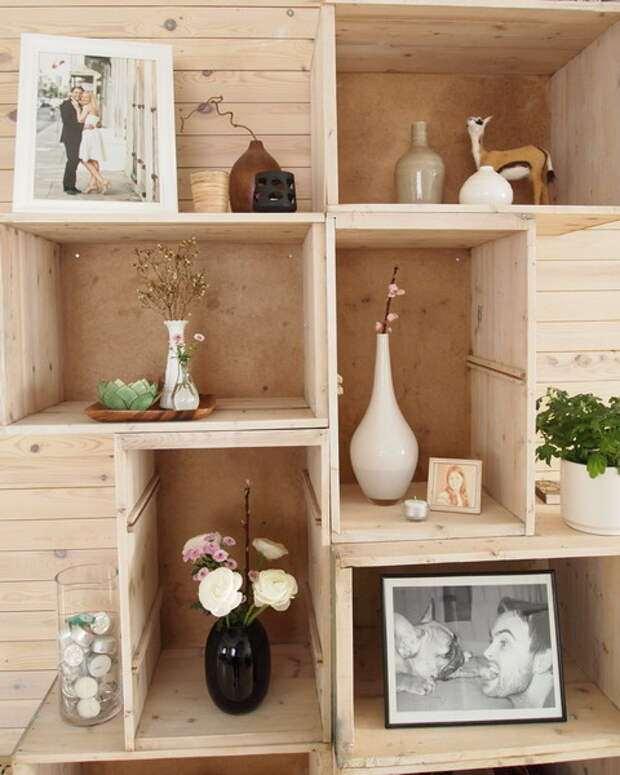 10 идей - деревянные ящики для цветов + фото