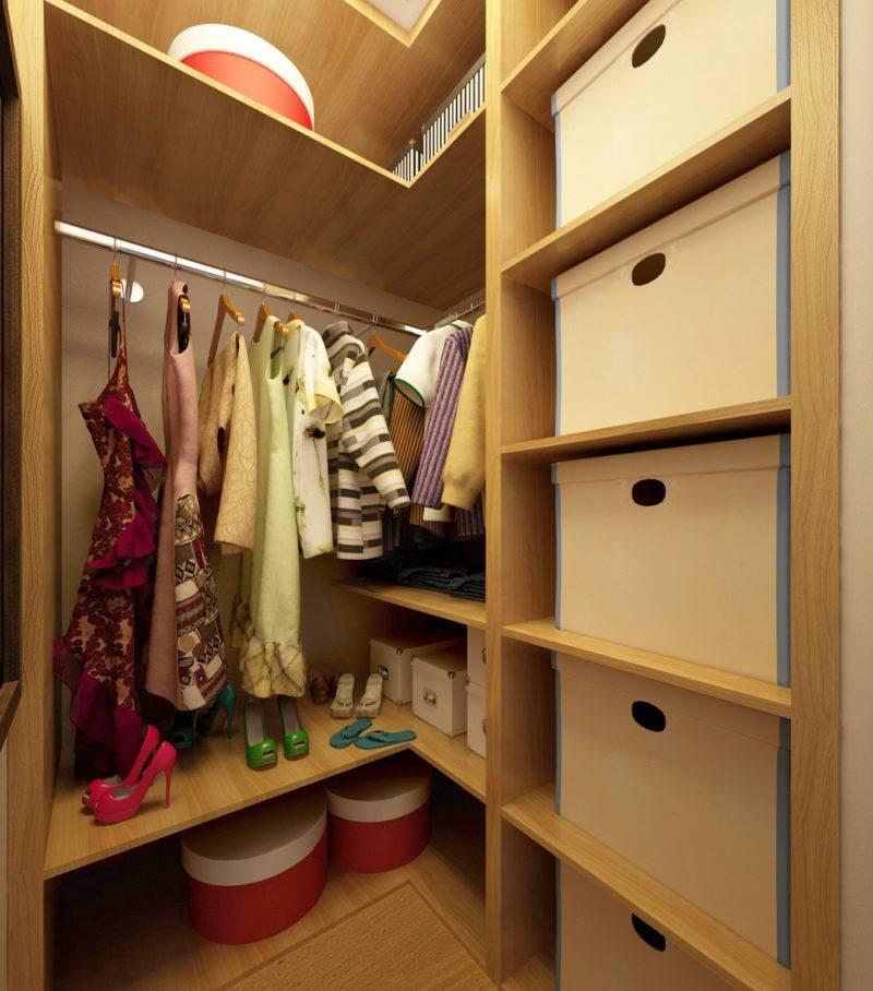 Как сделать гардеробную из обычной кладовки - 55 фото примеров