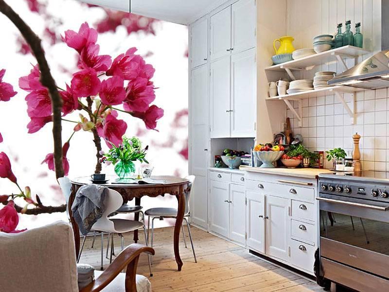 Фотообои для кухни – приемы и идеи оформления