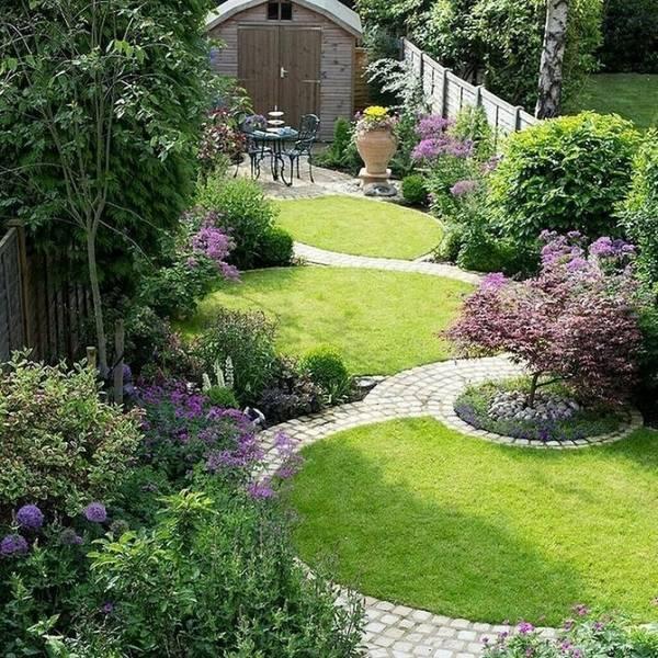 Ландшафтный дизайн маленького участка (89 фото): красивые хвойные композиции во дворик, декор небольшой территории