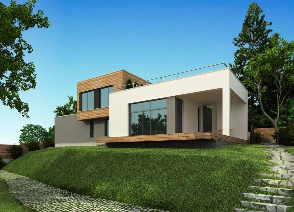 Дома с плоской крышей: все особенности и преимущества конструкции. 100 фото проектов нестандартных домов