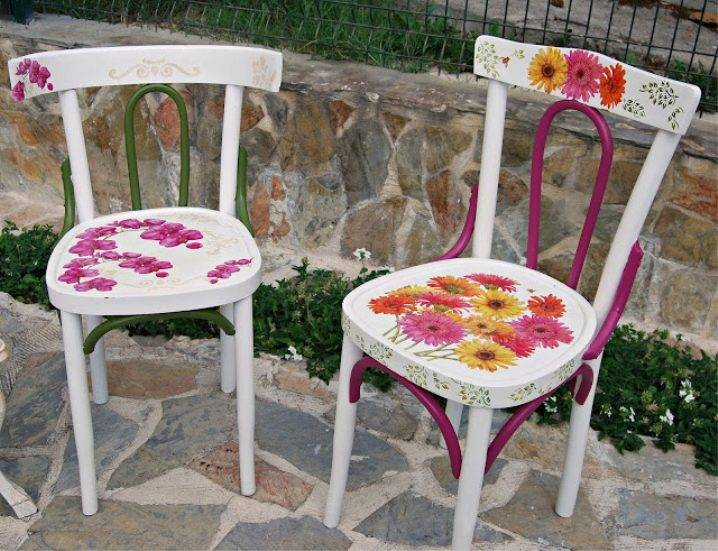 Оригинальные и полезные способы переделки старых стульев
