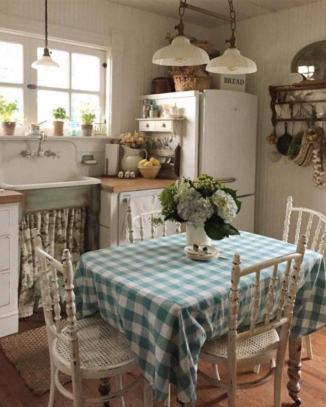 Дизайн кухни в деревенском стиле — оформление интерьера с фото