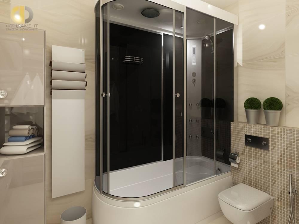 Дизайн ванной комнаты с душевой кабиной (фото) – идеи интерьера и планировки