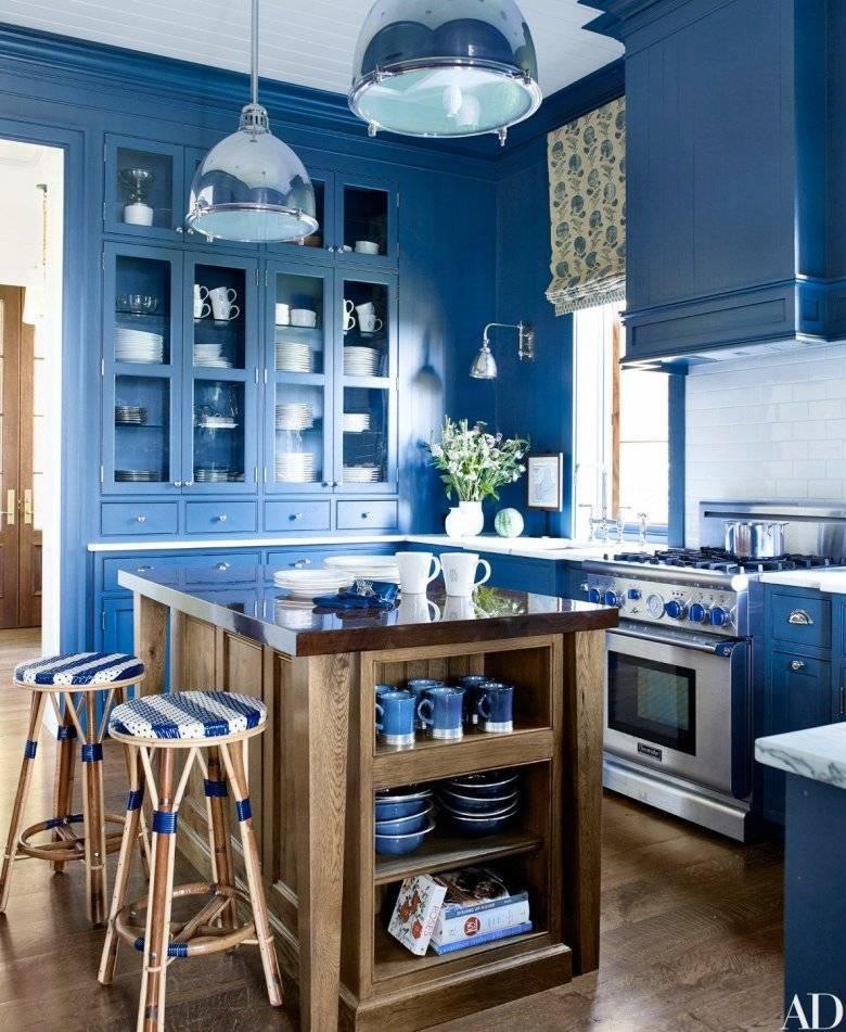 Голубая кухня: 100 фото модных новинок, сочетаний - дизайн интерьера
