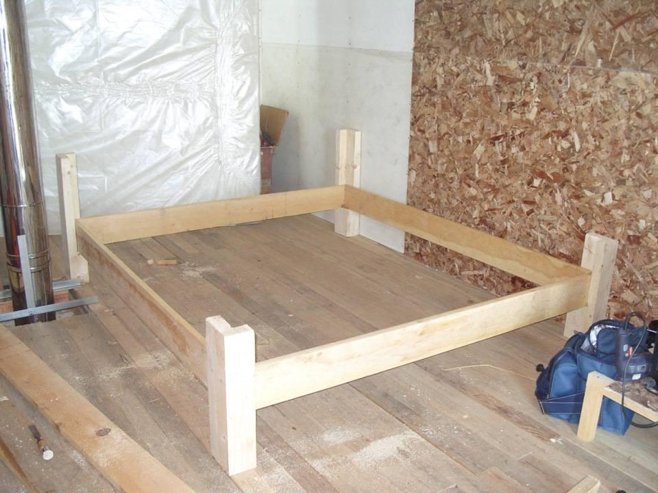 Кровать своими руками (двуспальная из дерева): устройство, чертежи, компоненты