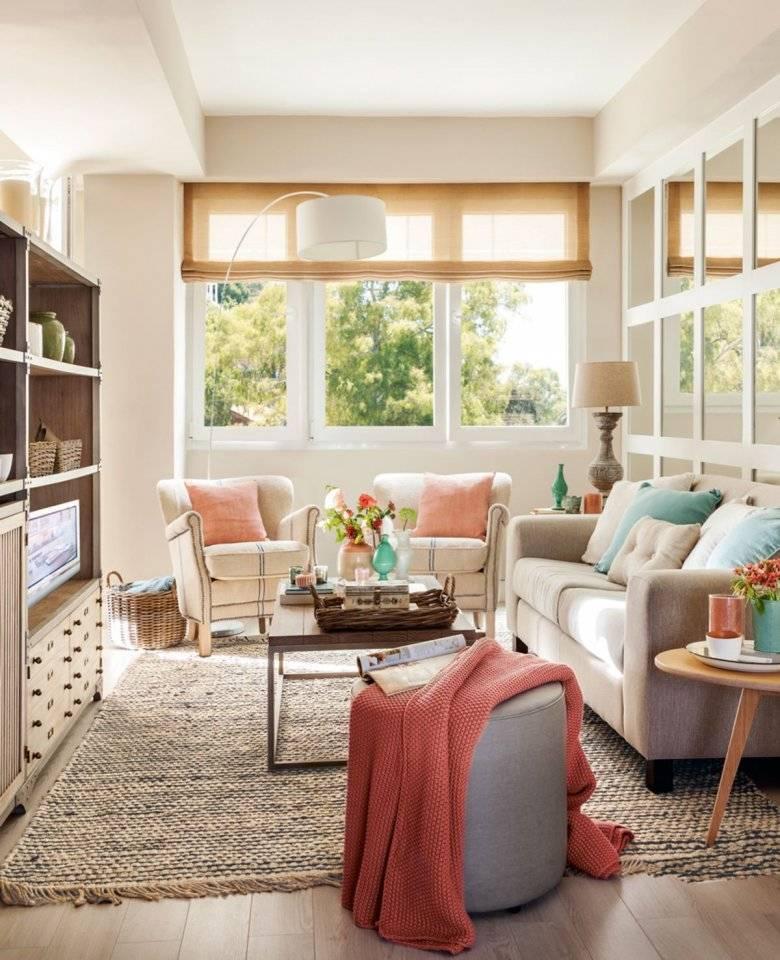 Интерьер маленькой гостиной в разных цветах и стилях, как оформить