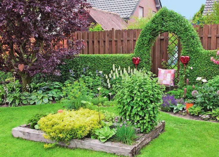 Дизайн сада и огорода в частном доме (57 фото): ландшафтный дизайн декоративных грядок, декор современных дворов