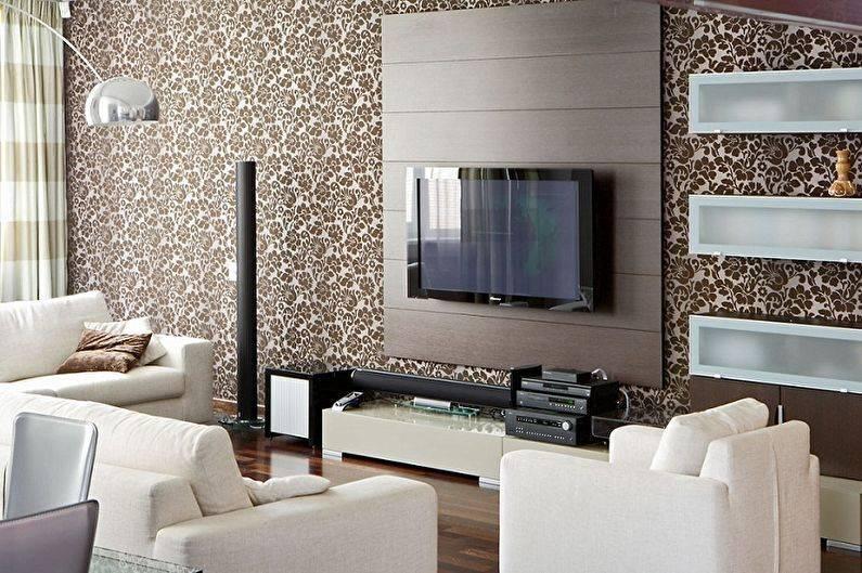 Светлые обои в гостиную: фото интерьера зала, какие шторы выбрать под