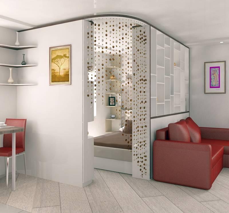 Выбор, установка материалов, предметов декора мебели, обеспечение всех необходимых удобств, зонирование комнаты на спальню и гостиную 20 кв м реальные фото ярких решений