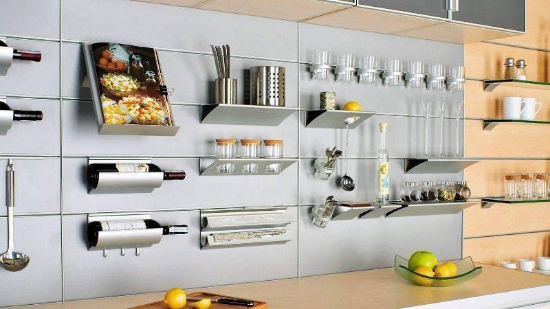 Рейлинги для кухни – 60 фото, 5 советов по выбору и 4 лайфхака
