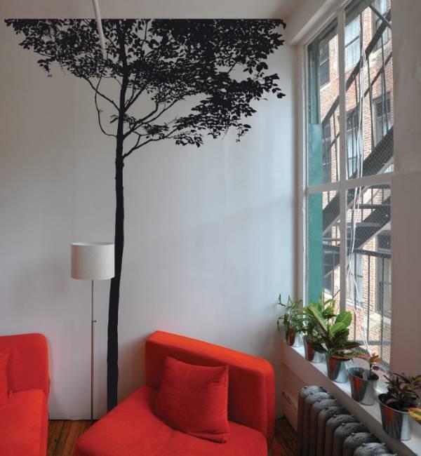 Декоративное дерево в интерьере — 75 фото идей дизайна для жилых помещений