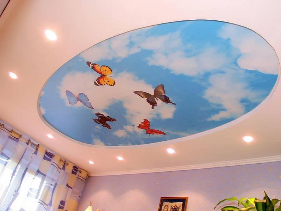 Двухуровневые потолки в интерьере