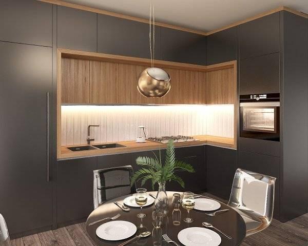 Дизайн кухни площадью 13 кв. м