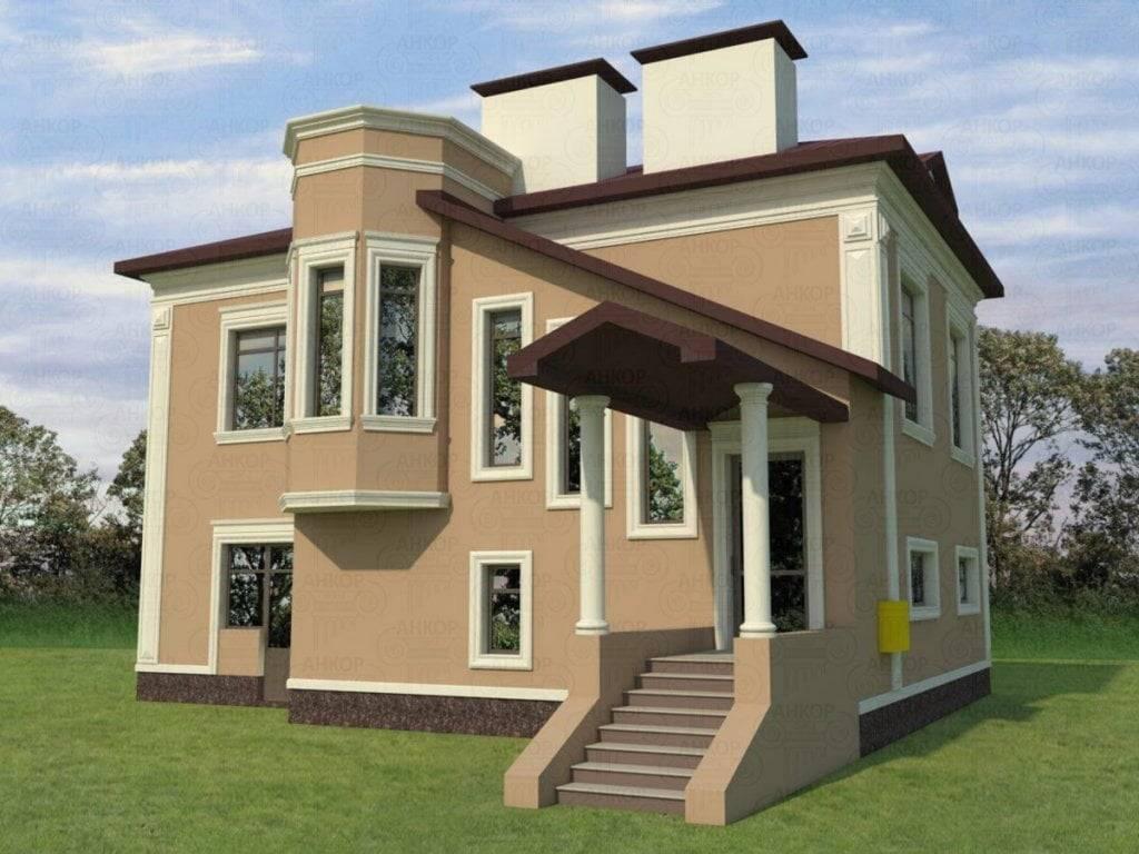 Отделка фасада дома – 40 красивых фото частных домов