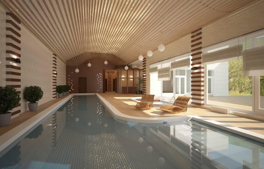 Бассейн в загородном доме: дизайн в интерьере и экстерьере   правильный дизайн квартиры и дома
