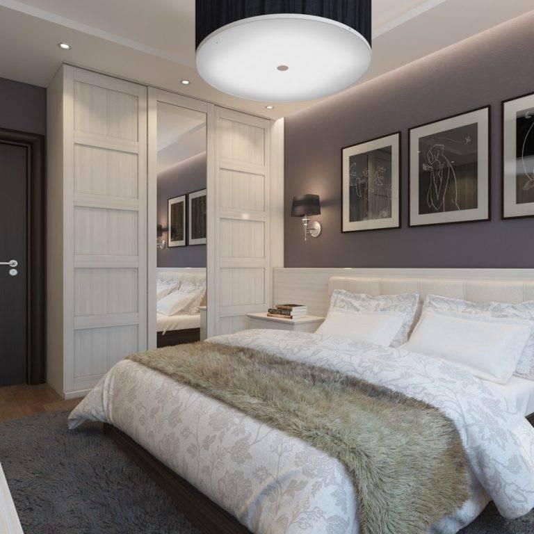 Спальня 12 кв.м. — дизайн с двуспальной кроватью
