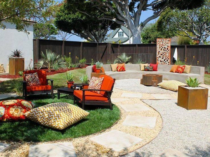 Двор частного дома   111+ фото современных идей красивого дизайна ландшафта и обустройства