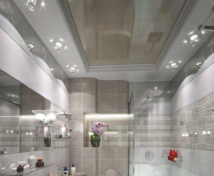 Потолок в ванной - 125 фото вариантов дизайна и стильного украшения потолка