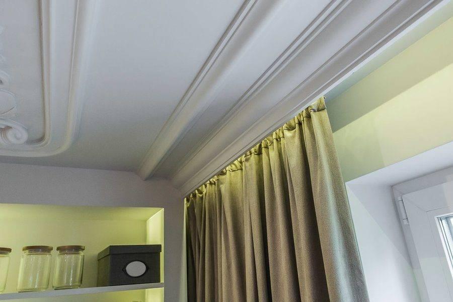 Сокрытый карниз для штор: особенности монтажа