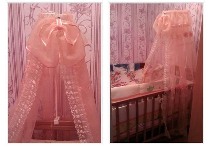Как повесить балдахин на детскую кроватку