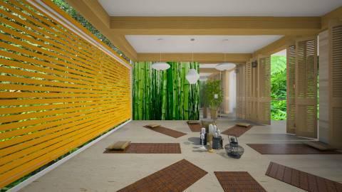 Бамбуковые обои в интерьере - стильная отделка экзотическим эко-материалом