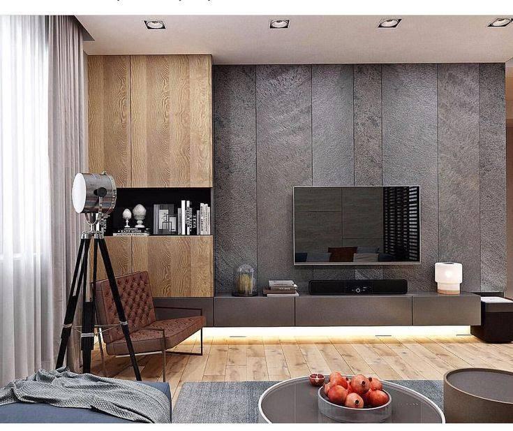 Варианты оформления телевизора на стене в гостиной